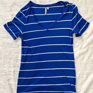 Banana Republic Blue Striped Tshirt Size Small